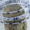 Sapphire Three Bangle Bracelet, Silver