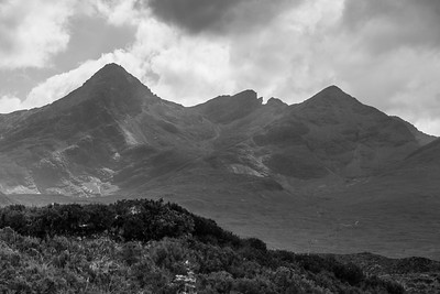 The serrated skyeline of the Cuillins