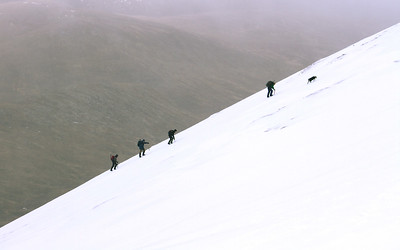 Toiling up the side of Carn na Criche