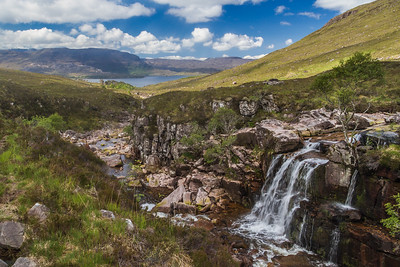 Waterfall from tributary of Abhainn Coire Mhic Nobuil