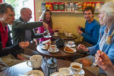 Jim, George, Ariane, Shanti and Alison in Bird's Cafe