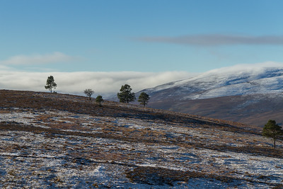 Cromdale Hills on the right
