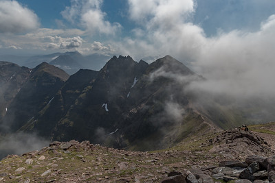 Sgurr Fiona and the crags beyond