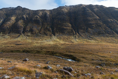 Many clefts in the side of Beinn Dearg