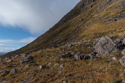 The steep eastern ascent of Beinn Alligin
