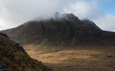 The eastern slope of Beinn Alligin seen from Stuc Loch na Cabhaig