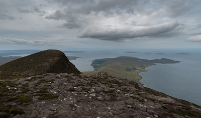View of the peninsula between Little Loch Broom and Loch Broom