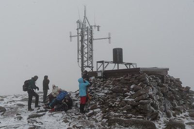 Lunch break on the summit of Cairn Gorm.