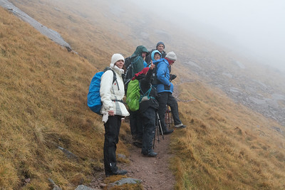 At the beginning of our ascent from Coire an t-Sneachda