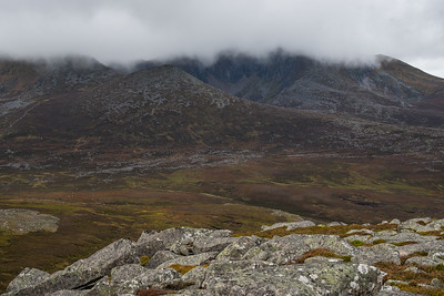 Lochnagar shrouded in low cloud