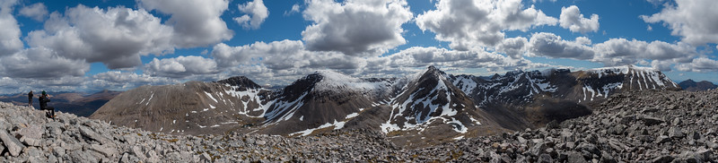 Panoramic view of Beinn Eighe