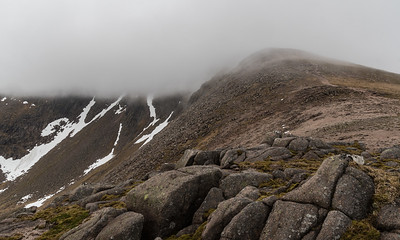 Braeriach still shrouded in cloud