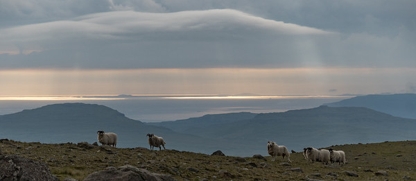 Outer Hebrides, probably South Uist, in the distance