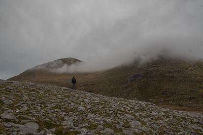 Cul Mor (Big Back) hidden behind cloud