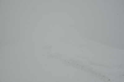 This is how a whiteout looks like - summit of Sgurr nan Clach Geala