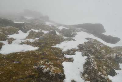 Nearing the summit of Sgurr nan Clach Geala (Hill of the white Stones)