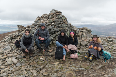 At the summit of Meall a' Bhuachaille