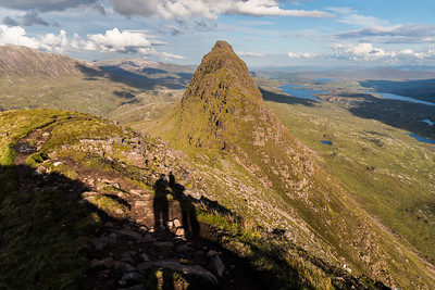 The dolphin back of Suilven