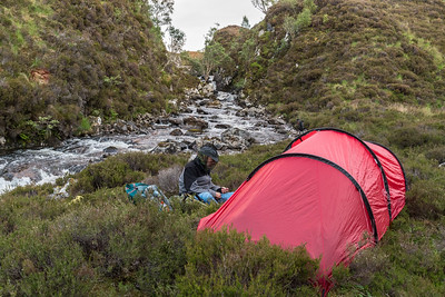 Camping with the midges