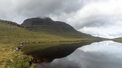 Loch Gaineamhach with Sron Coire an Fhamhair