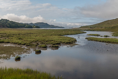River Kishorn with Loch Kishorn in the distance