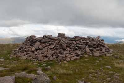 The sheltered trig point of Beinn Bhan where I had my lunch