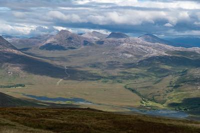View of Maol Chean-dearg, Sgurr Ruadh and Beinn Liath Mhòr