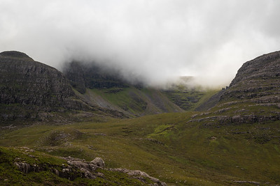 Getting closer to my ascent, the clouds still not going away