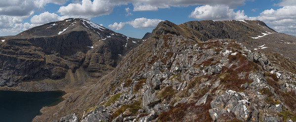 The ridge of Cona Mheall with Beinn  Dearg in the distance