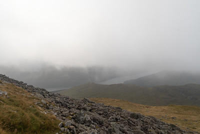 While descending I had a brief view of Loch Long
