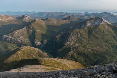 The Ring of Steall in soft evening light