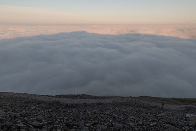 Ben Nevis' own shadow projected on the clouds