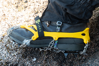 My new boot spikes were a great help in the frozen snow
