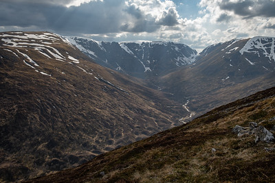 Looking back along Allt Coire Ardair