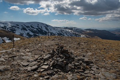 The unassuming cairn of Stob Poite Coire Ardair