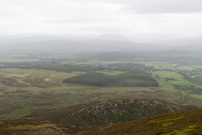 Newtonmore seen from the summit