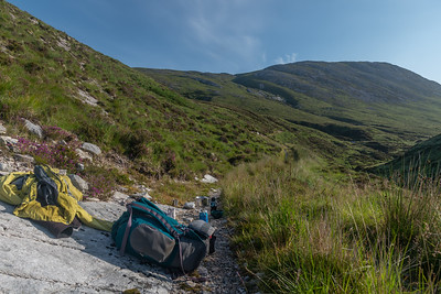 Breakfast close to streaming water (Allt Horn)