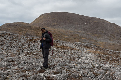 Indefatigable Hussain ready for the final ascent.