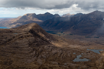 The tiny village of Torridon in the distance