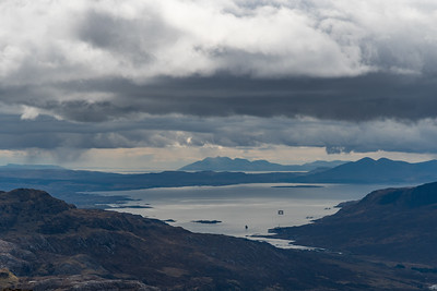 Applecross on the right, part of Skye and Rum on the horizon