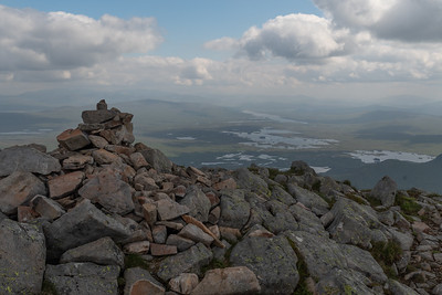 The cairn of Stob a' Choire Odhair