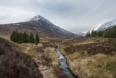 The glen with An Cabar on the left