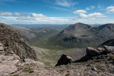 Carn a' Mhaim in the distance and Carn Toul in the middle
