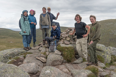 On Cairn Bannoch (peaked hill)