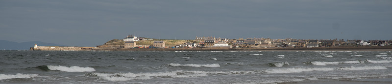 Burghead in a brief burst of sunshine