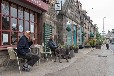 Coffee stop in Brora