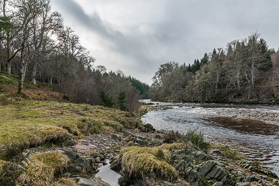 Leaving Findhorn River