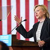 Hillary Clinton speaking in Warren.  Ray Skowronek--The Macomb Daily