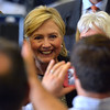 Hillary Clinton in Warren, after her speech.  Ray Skowronek--The Macomb Daily