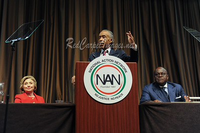 Hillary Clinton, Al Sharpton, W. Franklyn Richardson